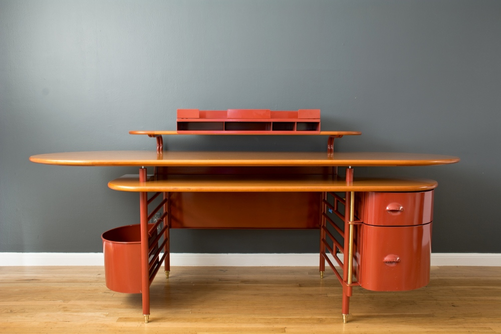 Copy of Rare 'Johnson Wax 1' Desk by Frank Lloyd Wright
