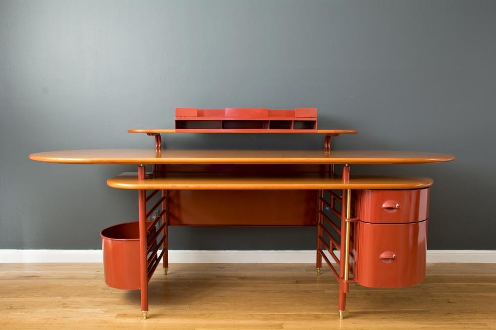 Copy of Rare 'Johnson Wax 1' Desk by Frank Lloyd Wright