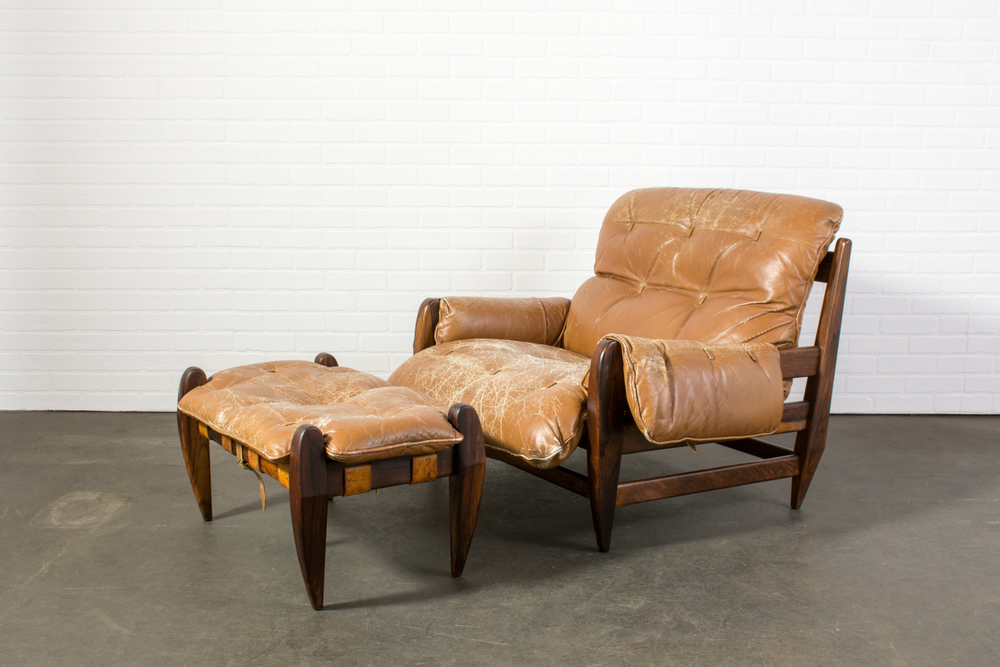 Copy of Rosewood Lounge Chair and Ottoman by Jean Gillon