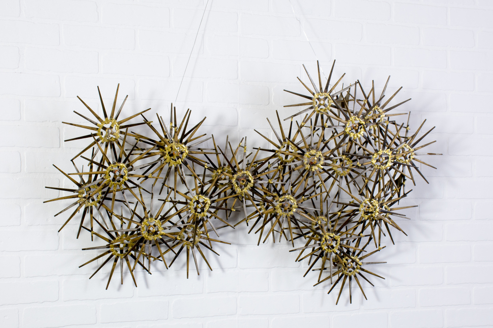 Vintage Mid-Century Metal Wall Sculpture by Marc Weinstein for Marc Creates