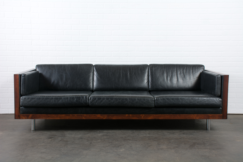 Vintage Rosewood Case Sofa by Milo Baughman