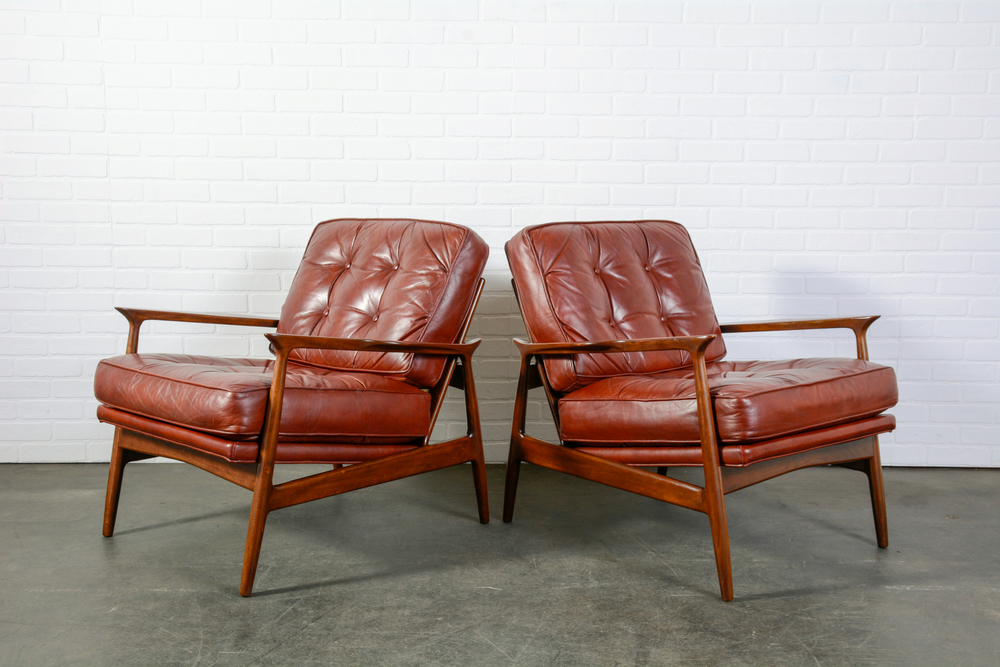 Copy of Pair of Danish Modern Lounge Chairs