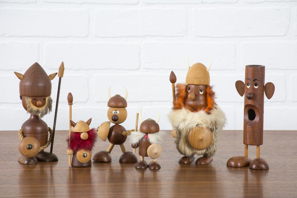 Set of Six Danish Modern Vikings