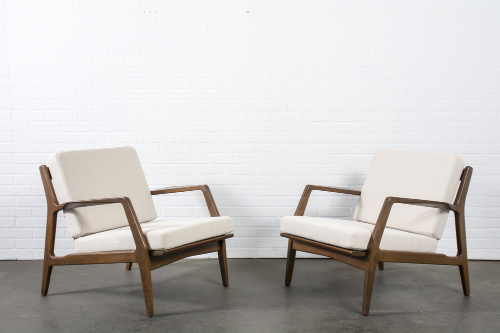Pair of Danish Modern Lounge Chairs by Ib Kofod Larsen