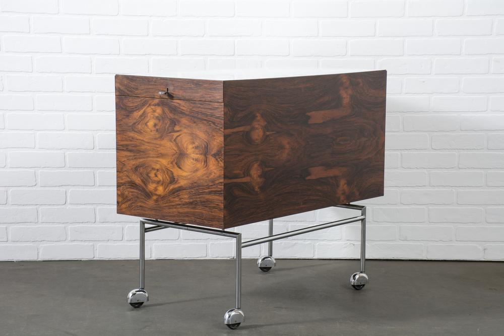 Danish Modern Rosewood Bar by Poul Nørreklit