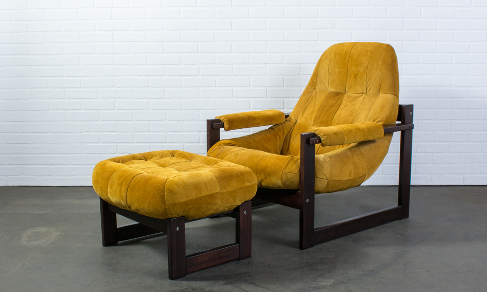 Lounge Chair and Ottoman by Percival Lafer