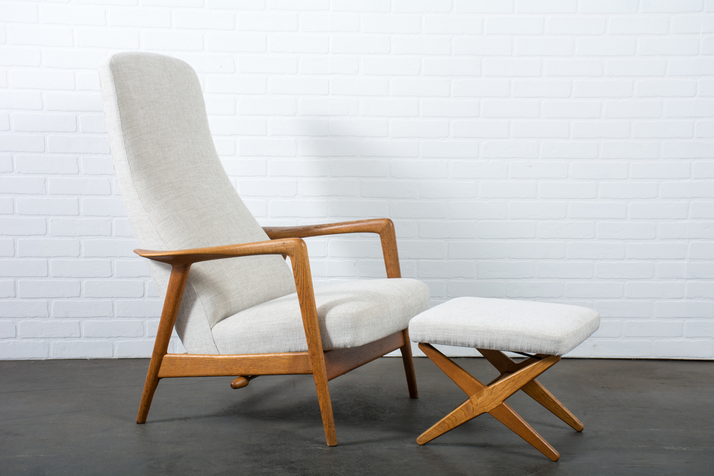 Lounge Chair and Ottoman by Folke Ohlsson