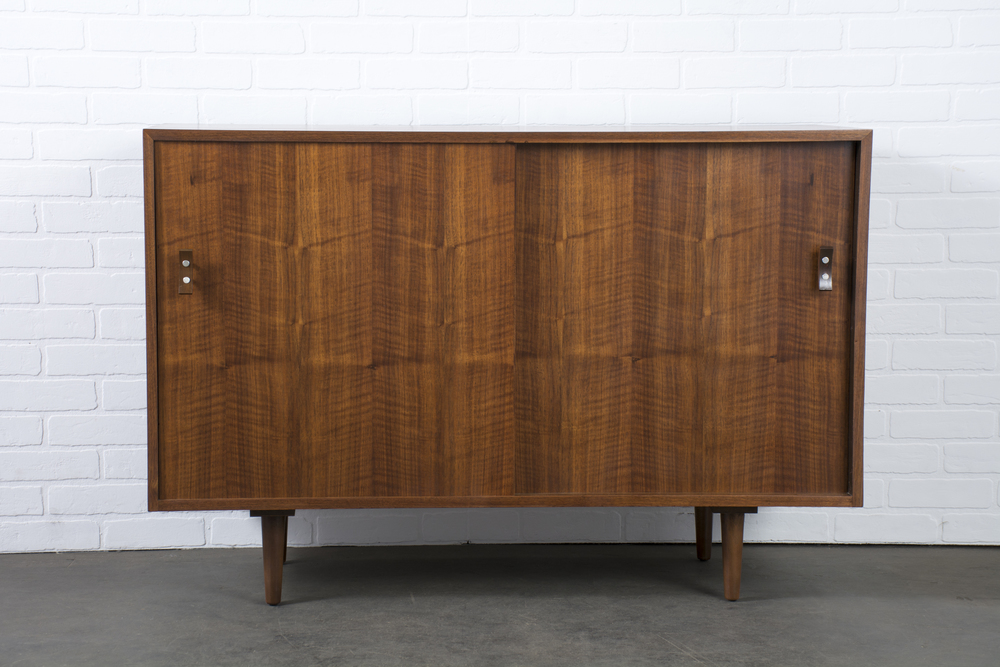 Vintage Walnut Credenza by Stanley Young for Glenn of California