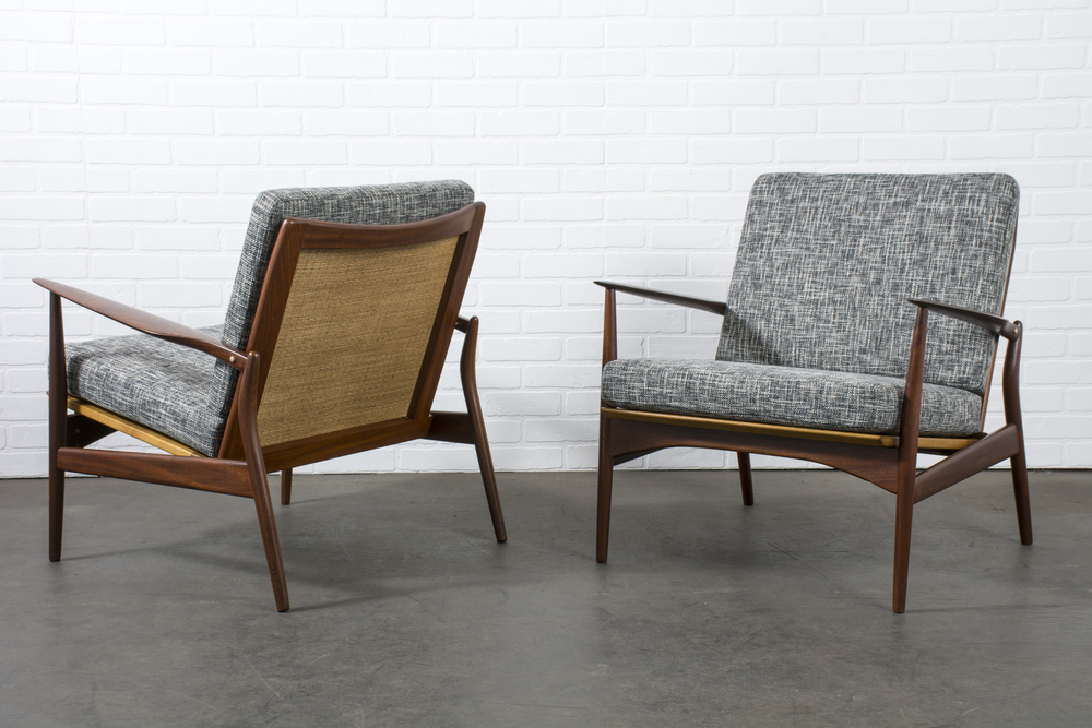 Pair of Danish Modern 'Spear' Lounge Chairs by Ib Kofod-Larsen
