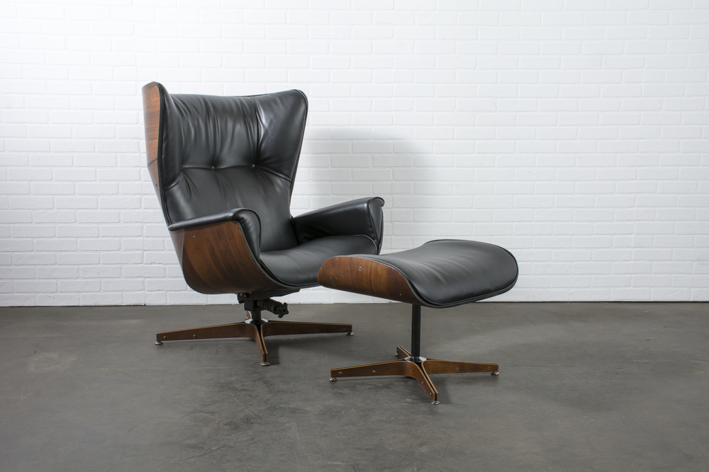 Copy of Mid-Century Modern Lounge Chair and Ottoman by George Mulhauser
