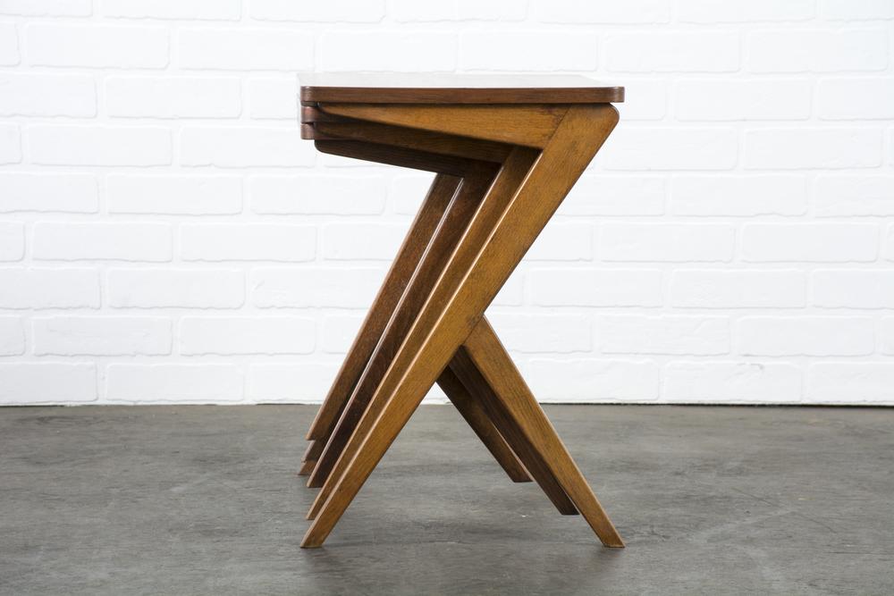 Set of Three Mid-Century Modern Nesting Tables
