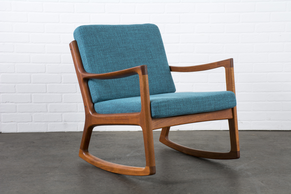 Copy of Danish Modern Teak Rocker by Ole Wanscher