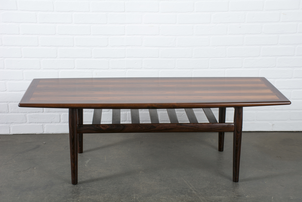 Danish Modern Rosewood Coffee Table by Grete Jalk