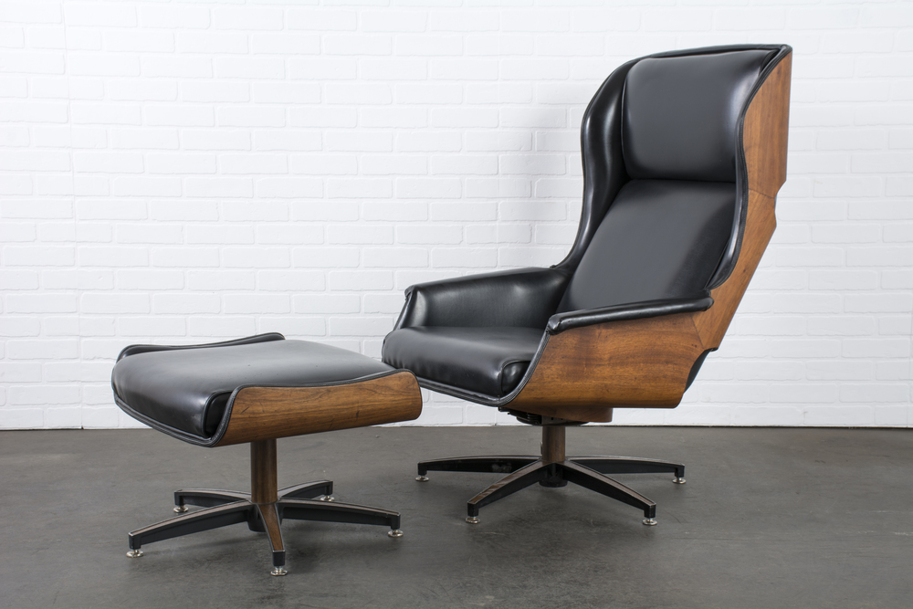 Copy of Mid-Century Modern Lounge Chair and Ottoman by Drexel