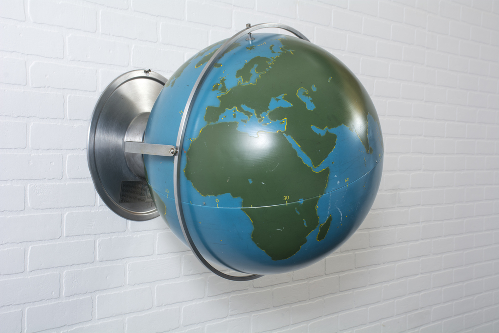 Large Vintage Aviation World Globe