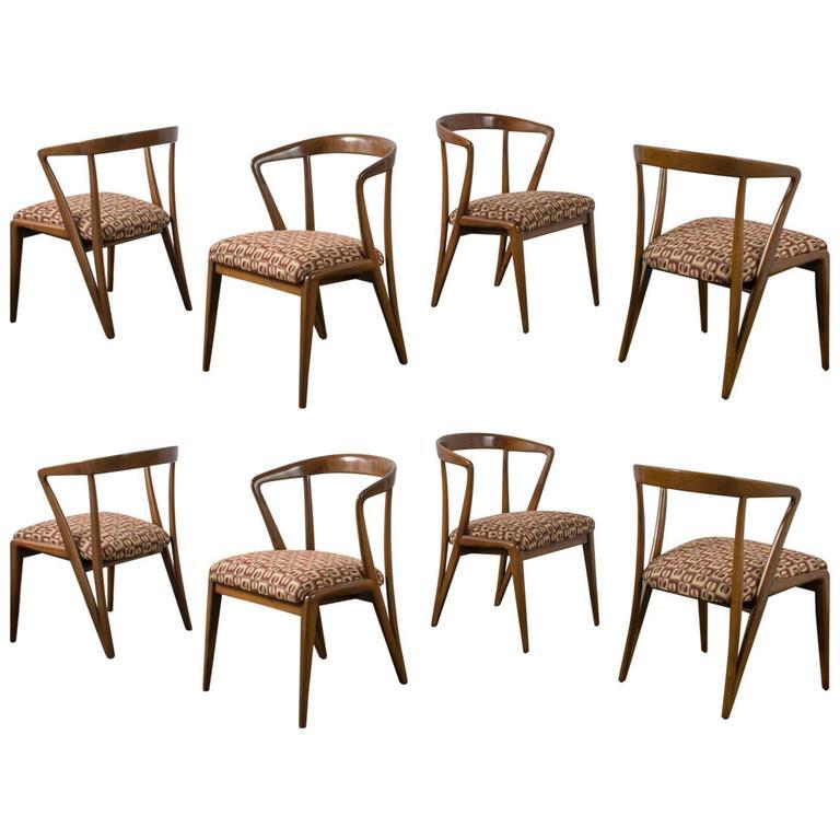 Eight Bertha Schaefer Dining Chairs. Photo: Mid-Century Modern Finds