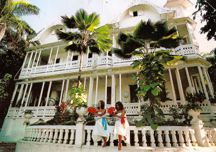 A postcard shot of the Peabody house in Port-Au-Prince, Haiti. Photo Credit: lawrencepeabody.tumblr.com