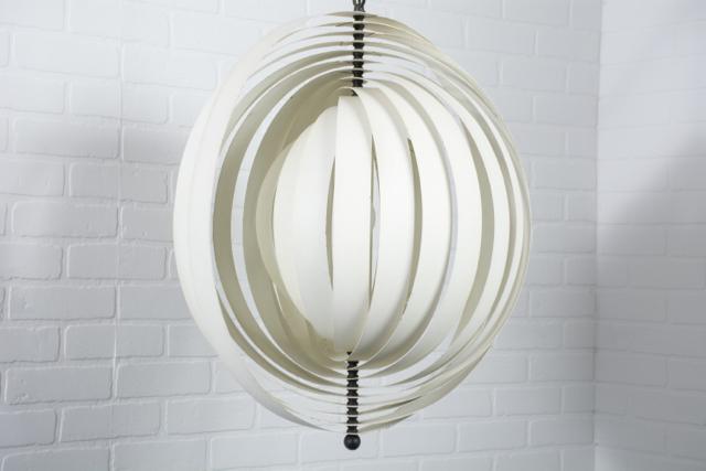 Mid-Century Modern Hanging 'Moon' Lamp