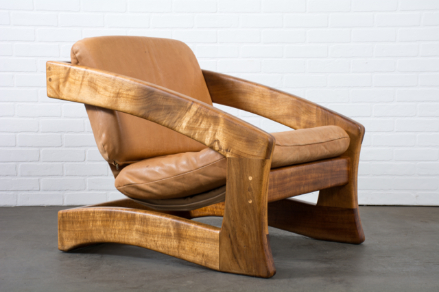 Copy of Vintage Leather Lounge Chair by Robert and Joanne Herzog