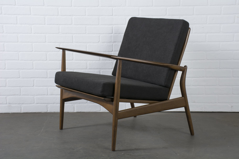 Copy of Danish Modern 'Spear' Lounge Chair by Ib Kofod-Larsen