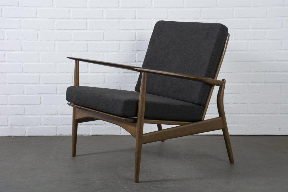 Danish Modern 'Spear' Lounge Chair by Ib Kofod-Larsen