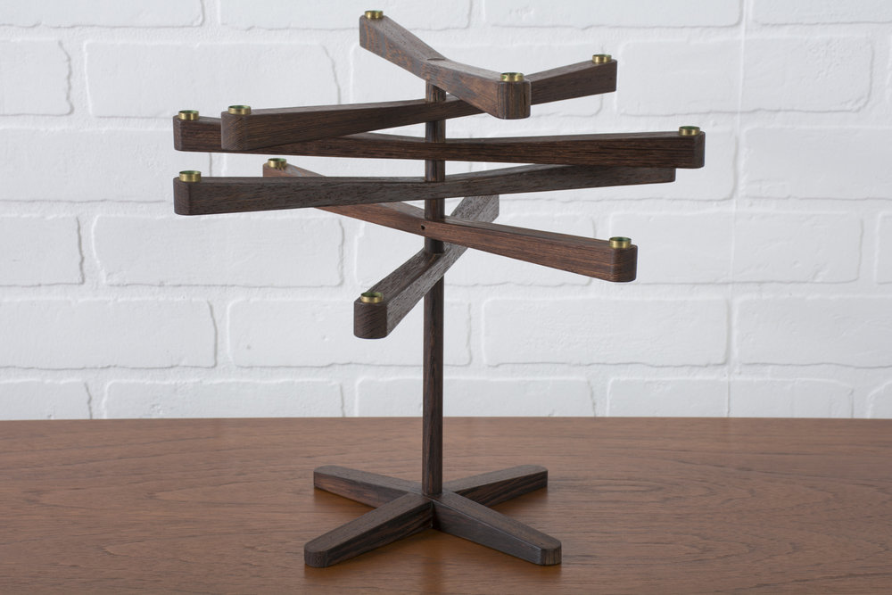 Danish Modern Rosewood Candle Holder