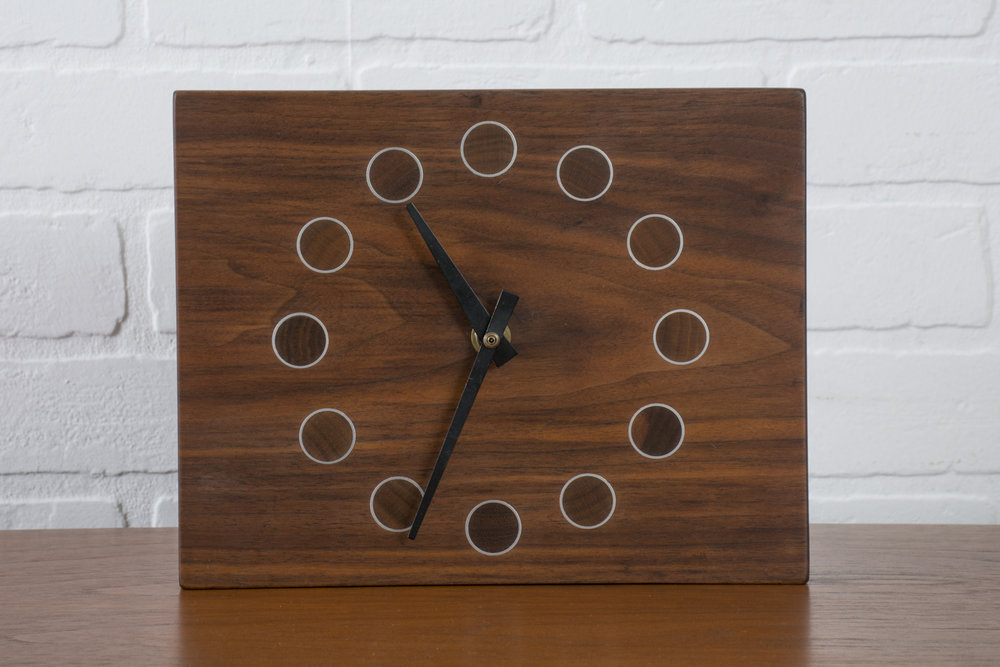 Copy of Vintage Mid-Century Wood Clock