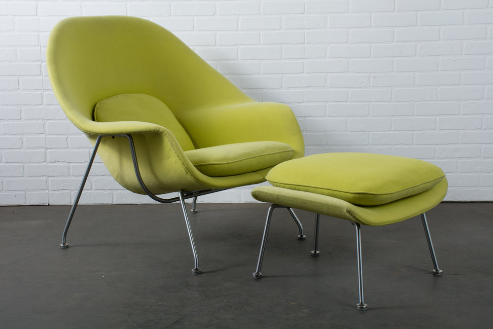 Copy of Womb Chair and Ottoman by Eero Saarinen for Knoll