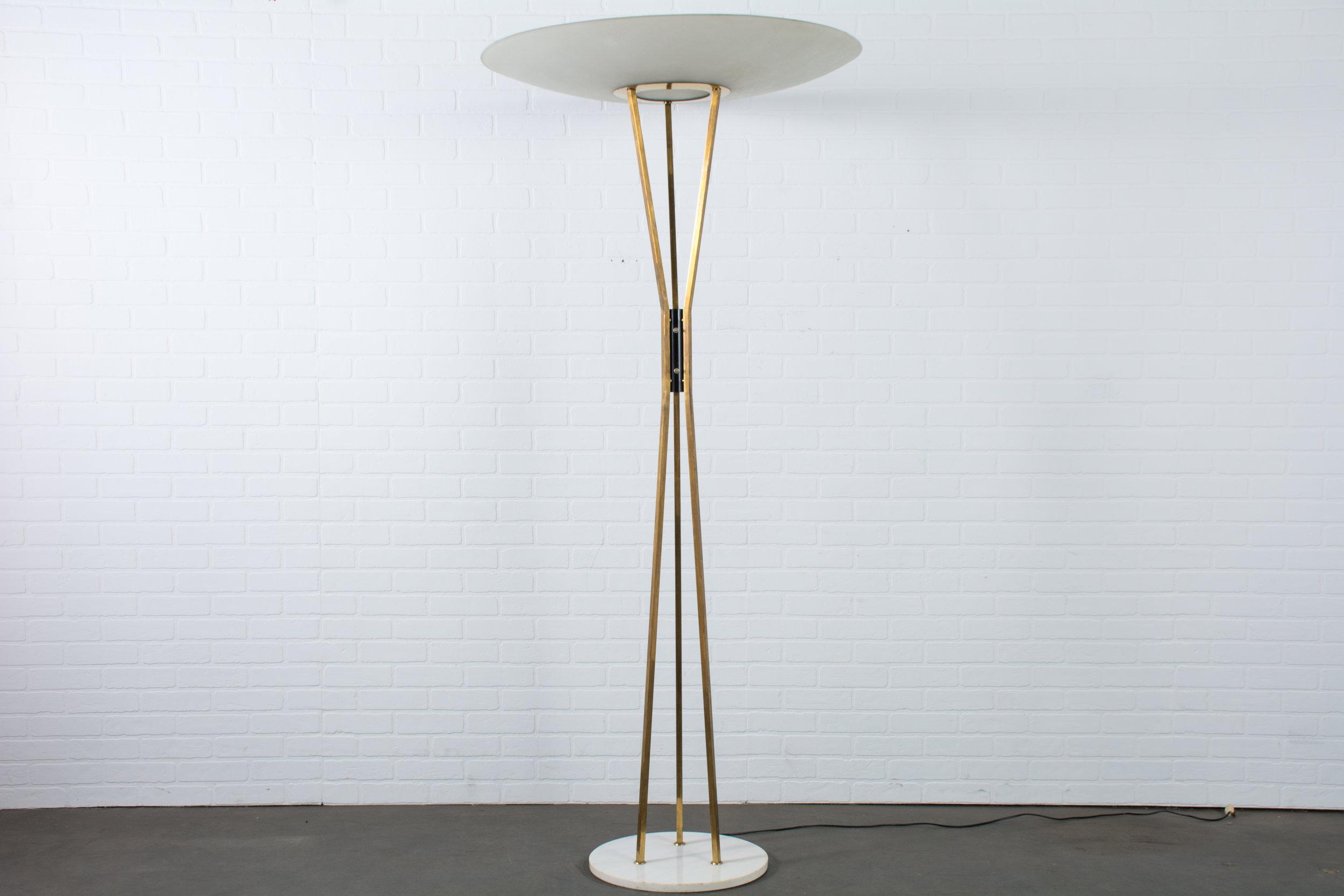 Gaetano Sciolari For Stilnovo Large Brass Floor Lamp Italy 1950s Mid Century Modern Finds