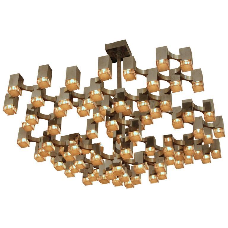 Gaetano Sciolari 'Cubic' Chandelier | Designer's Den/1stdibs