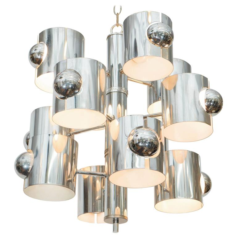 Gaetano Sciolari Chandelier | Showplace Antique & Design Center/1stdibs