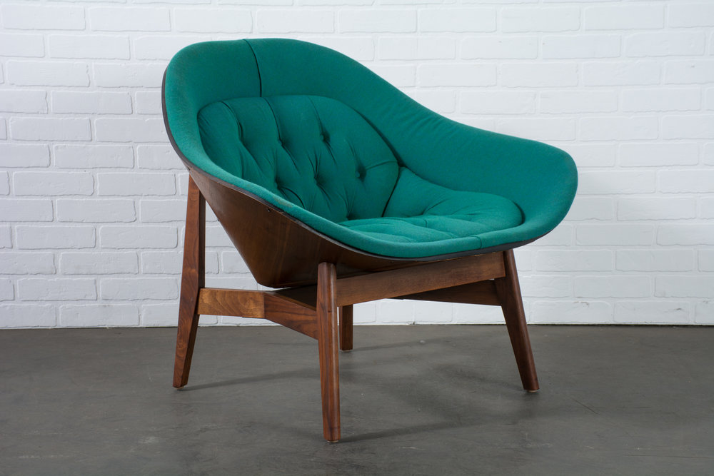 vintage midcentury lounge chair by george mulhauser for plycraft