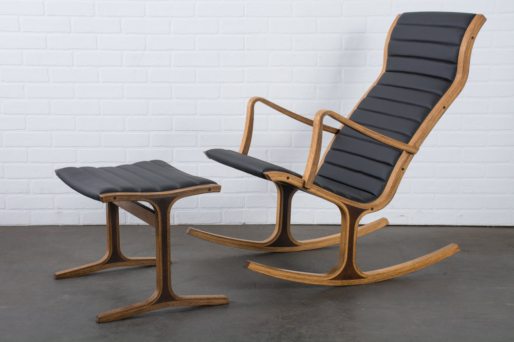 Mid-Century Heron Rocking Chair by Mitsumasa Sugasawa for Tendo Mokko