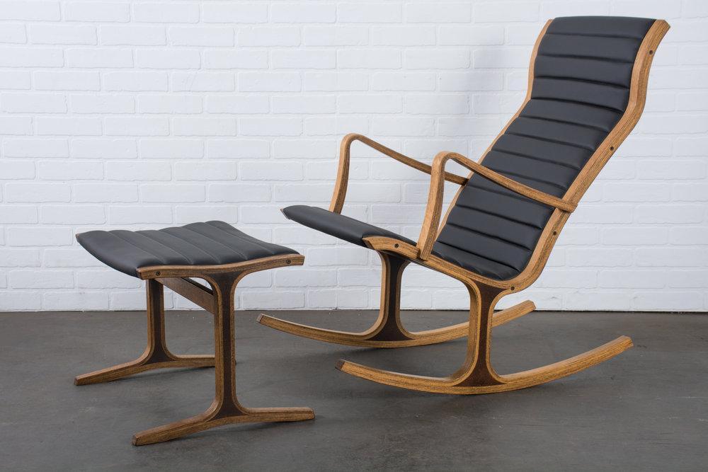 Mid-Century Heron Rocking Chair by Mitsumasa Sugasawa for Tendo Mokko