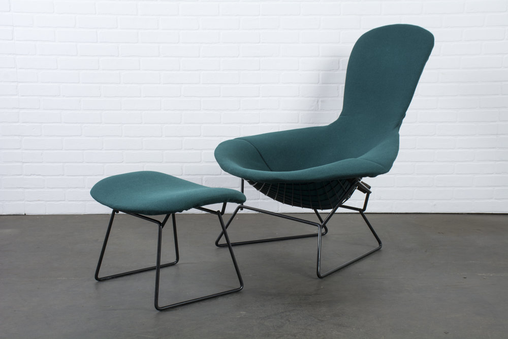 Copy of Vintage Bird Chair and Ottoman by Harry Bertoia for Knoll