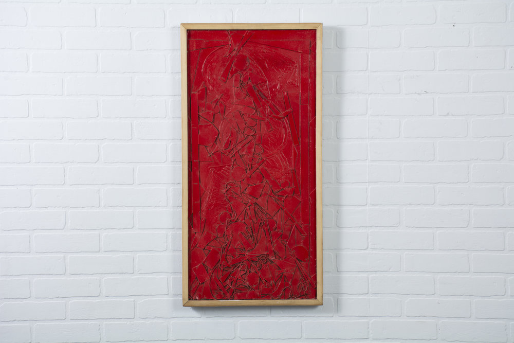 Copy of Vintage Red Painting by Robert Gilberg