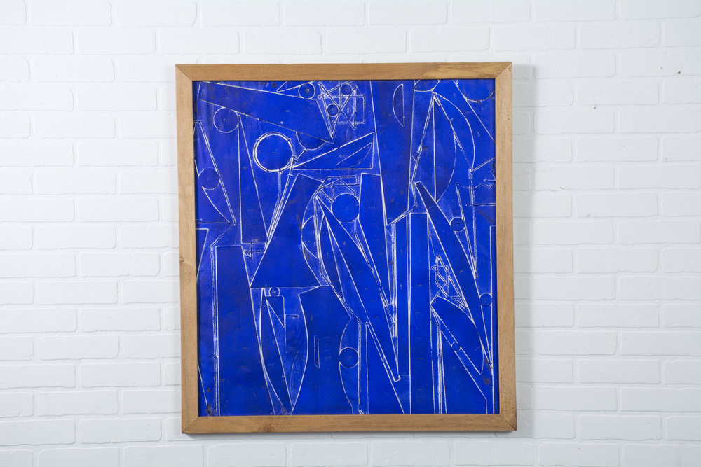 Copy of Vintage Blue Painting by Robert Gilberg