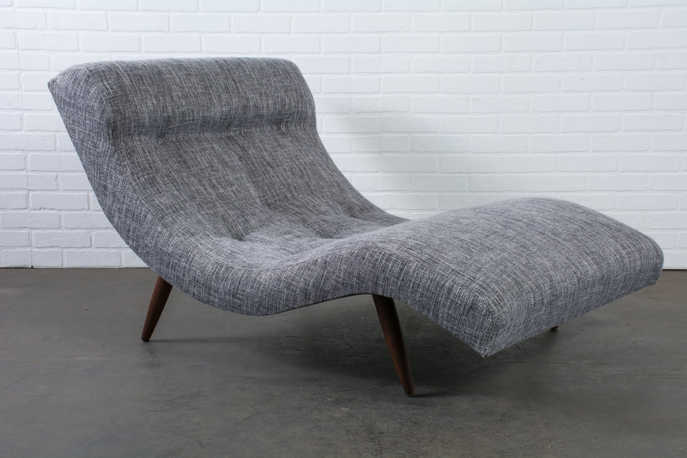 Vintage Mid-Century Grey Chaise Longue by Adrian Pearsall for Craft Associates