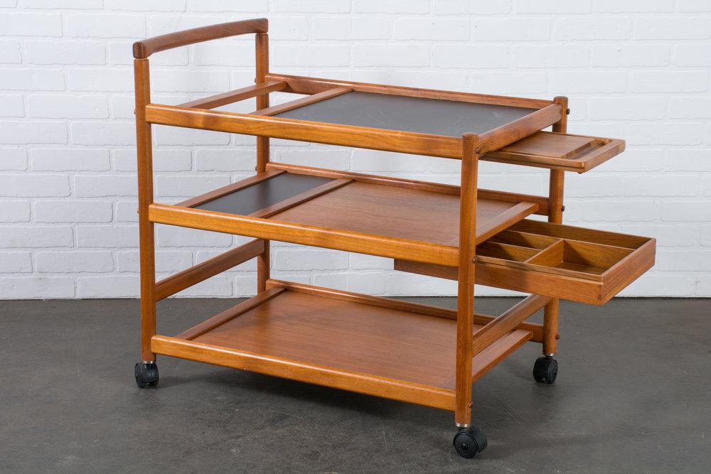 Vintage Mid-Century Teak Bar Cart