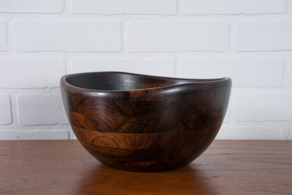Vintage Mid-Century Rosewood Bowl by ESA, Denmark