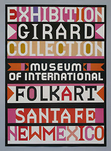 Girard Folk Art Exhibit Poster | Photo: eBay