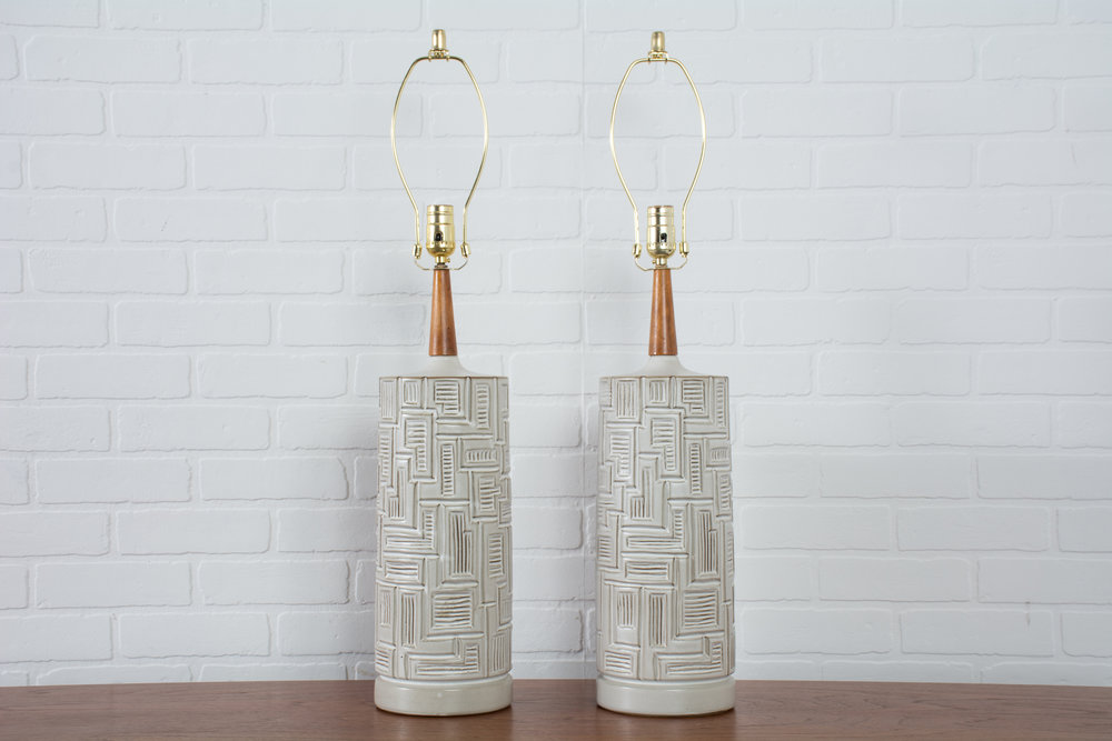 Copy of Pair of Vintage Midcentury Ceramic Table Lamps