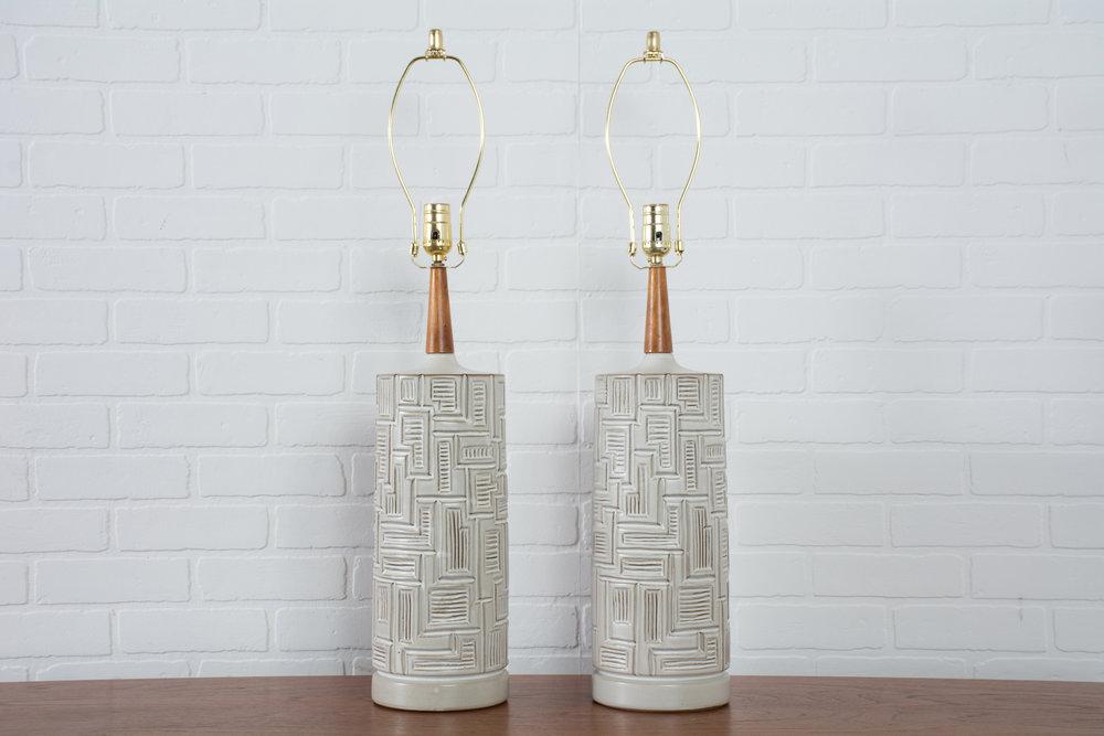 Pair of Vintage Midcentury Ceramic Table Lamps