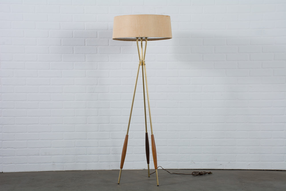 Gerald Thurston Lightolier Tripod Floor Lamp