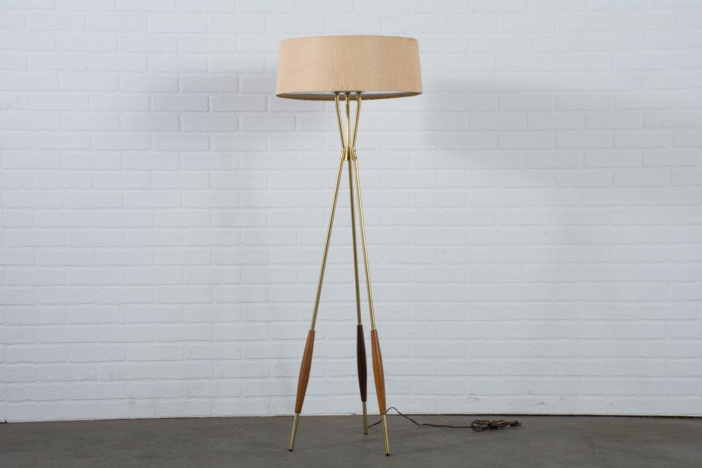 Gerald Thurston Lightolier Tripod Floor Lamp