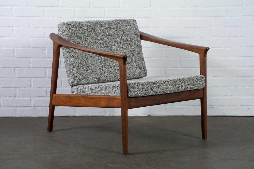 Mid-Century Modern Lounge Chair by Folke Ohlsson for DUX