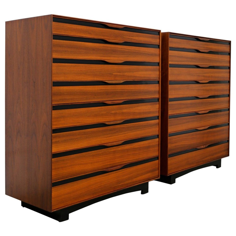 Pair of Tall Chests by John Kapel for Glenn of California / Archive/ Istdibs.com