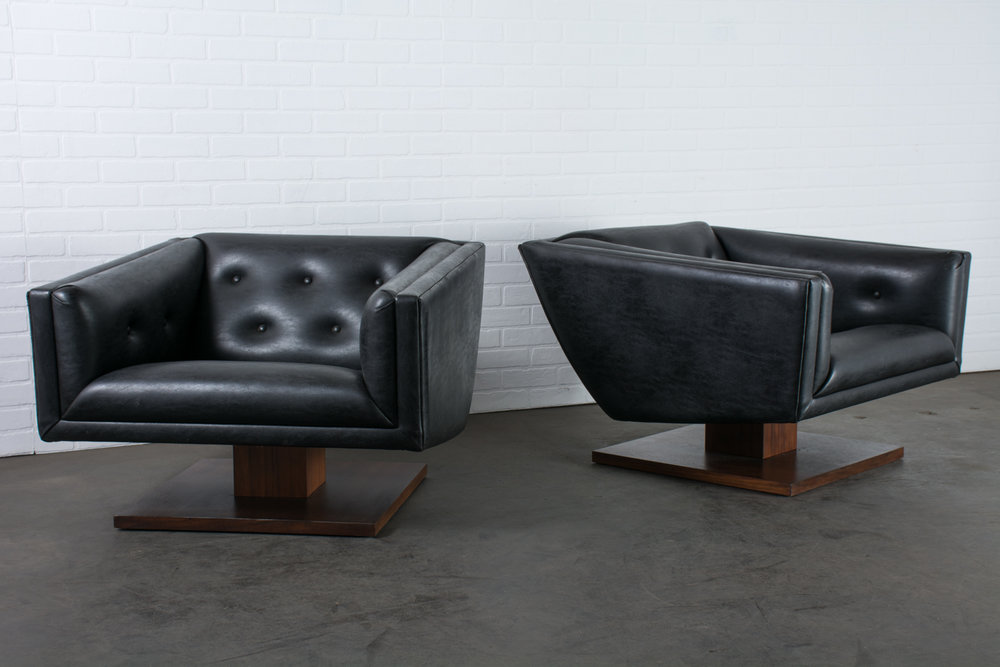 Pair of Vintage Mid-Century Club Chairs by Martin Borenstein