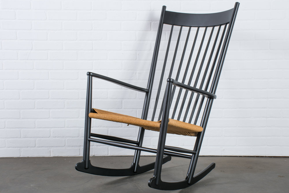 Mid-Century J16 Rocking Chair by Hans Wegner