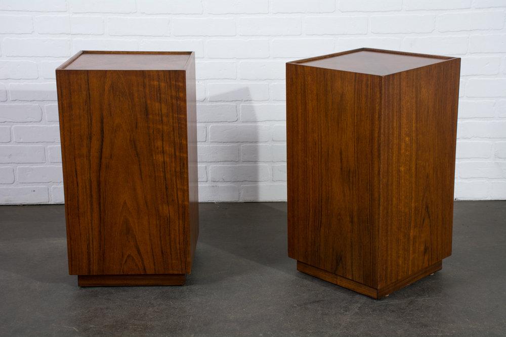 Pair of Vintage Mid-Century Walnut Side Tables